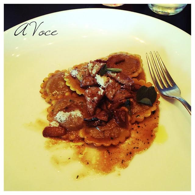 restaurant, restaurant week, ravioli, A VOCE, columbus circle, lunch
