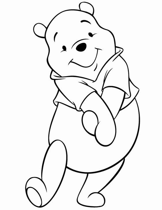 Tranh cho bé tô màu gấu Pooh 0