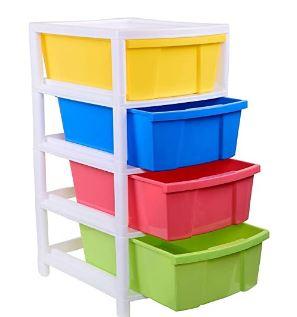 Aristo Houseware Plastic 4-Drawer Rack