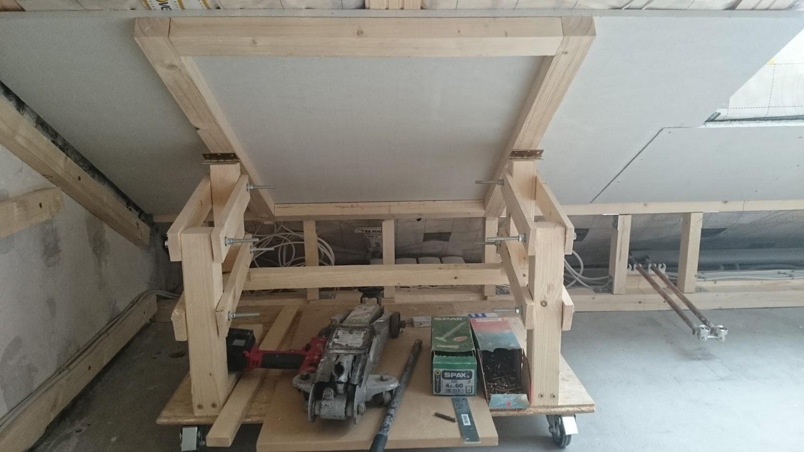 gipskartonplatten alleine an einer dachschr ge montieren. Black Bedroom Furniture Sets. Home Design Ideas