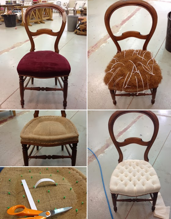 l 39 atelier de la marquise chaise capitonn e. Black Bedroom Furniture Sets. Home Design Ideas