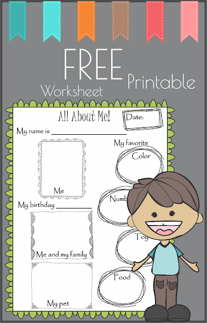 Free All About Me Worksheet Printable
