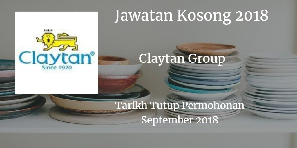 Jawatan Kosong Claytan Group September 2018