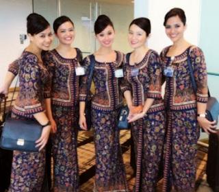 Model Baju Batik Pramugari