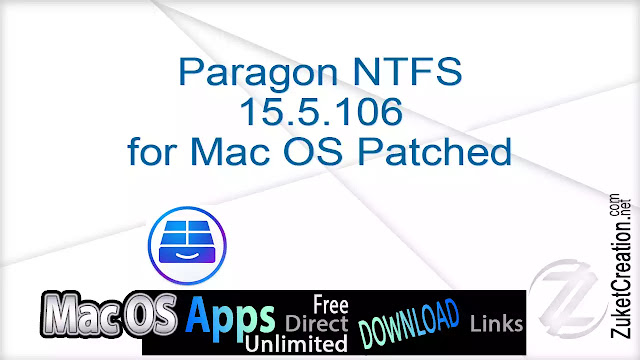 Paragon NTFS 15.5.106 for Mac OS Patched