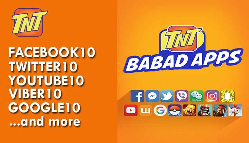 TNT List of Babad Apps Promo – All at 10 Pesos Valid for 3 Days