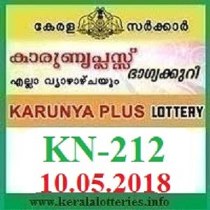 KARUNYA PLUS KN-212 LOTTERY RESULT