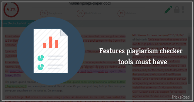 What Features a good Plagiarism Checker Must Possess?