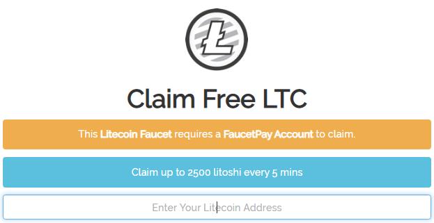 Cara mendapatkan faucet litecoin (LTC) gratis setiap 5 menit