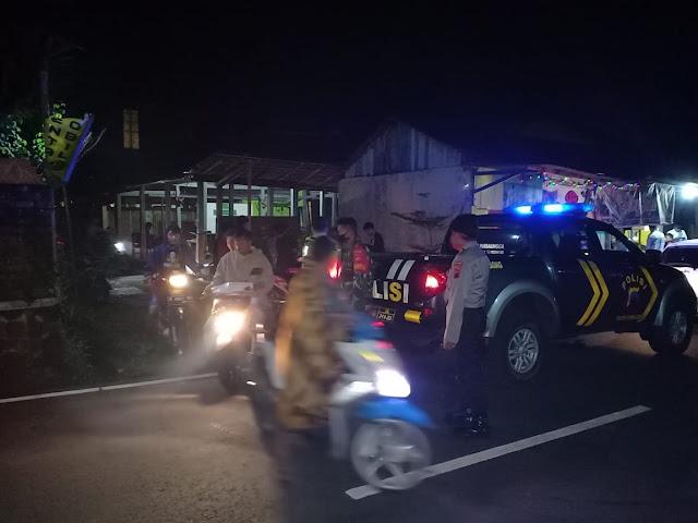 Pemkab Purbalingga Berlakukan Jam Malam, Patroli Gabungan Bubarkan Kerumunan Pemuda