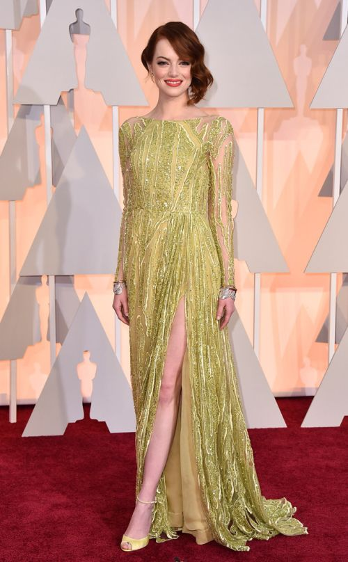 Emma Stone in Elie Saab at the Academy Awards 2015