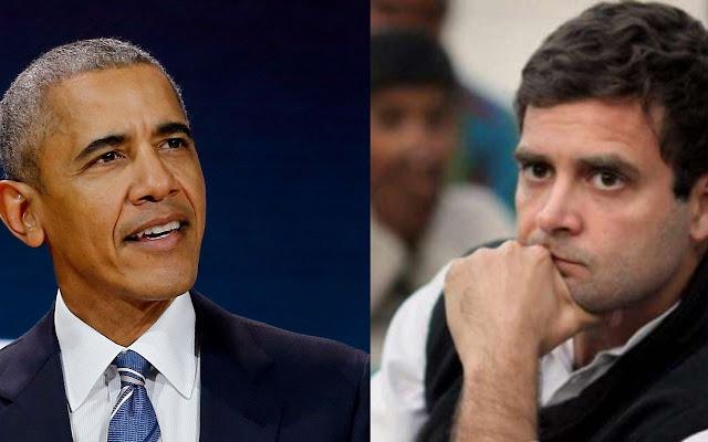 """Barack Obama says Congress leader Rahul Gandhi has a """"nervous,"""
