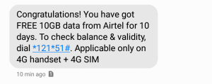 Airtel Get Free 10GB 4G Data By Dialing The Number, airtel free data number airtel free internet Airtel free data code number airtel free data by calling