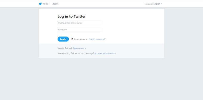Twitter Login Clone