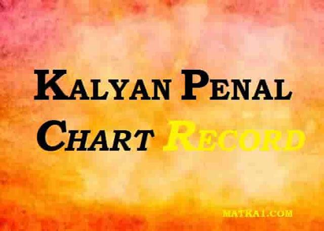 KALYAN PENAL CHART