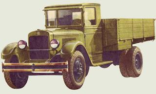 ЗИС производился с 1933 до конца 40-х. Грузоподъёмность 3 тонны.