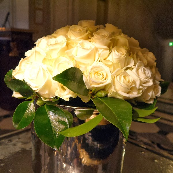 Le Meurice Hotel cream roses in Paris