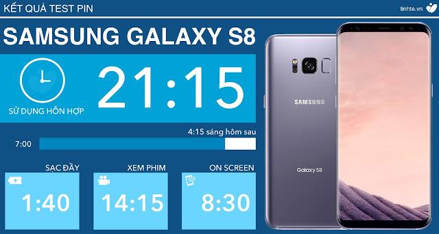 Đánh giá chi tiết thời lượng sử dụng pin của Samsung Galaxy S8