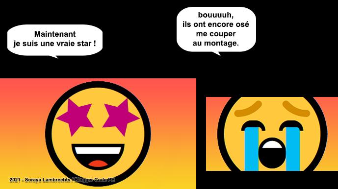 Blogger Humour - Smiley-Pleurnicheur a été coupé au montage.