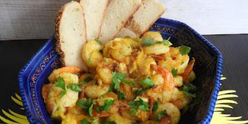 Krewetki z mango i curry wg Jamie'go Olivera