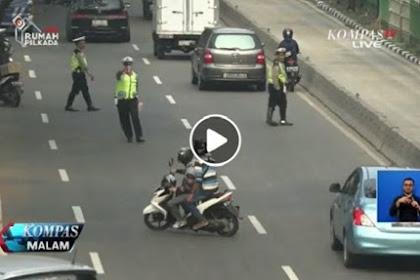 Netizen Kecam Pengendara Motor ini Karena Hindari Razia, Lihat Aksi Super Nekatnya di Video