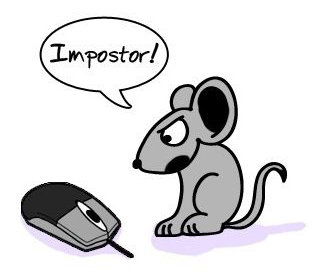 Mouse impostor funny cartoon