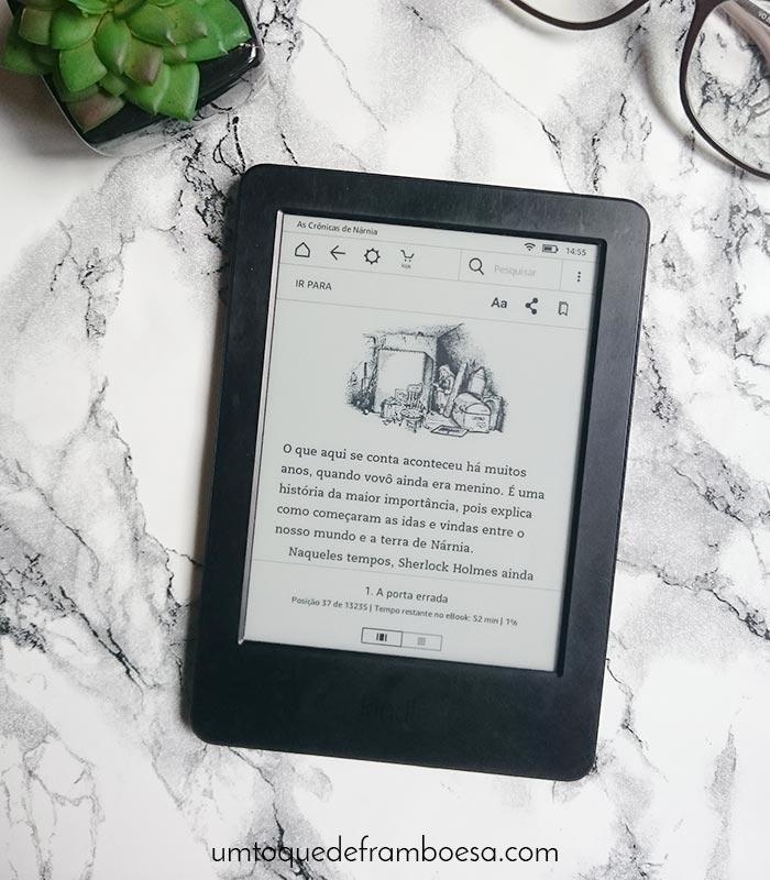 Experiência de leitura de e-book em um Kindle Amazon