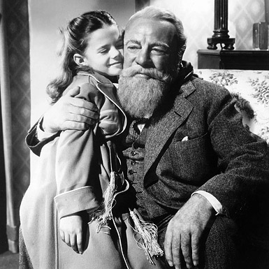 Kris hugs Susan in Miracle on 34th Street