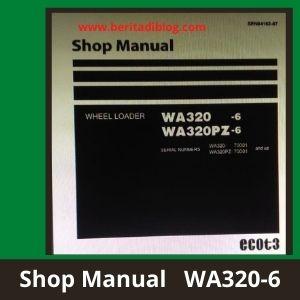 WA320-6 wa320-6pz shop manual wheel loader komatsu