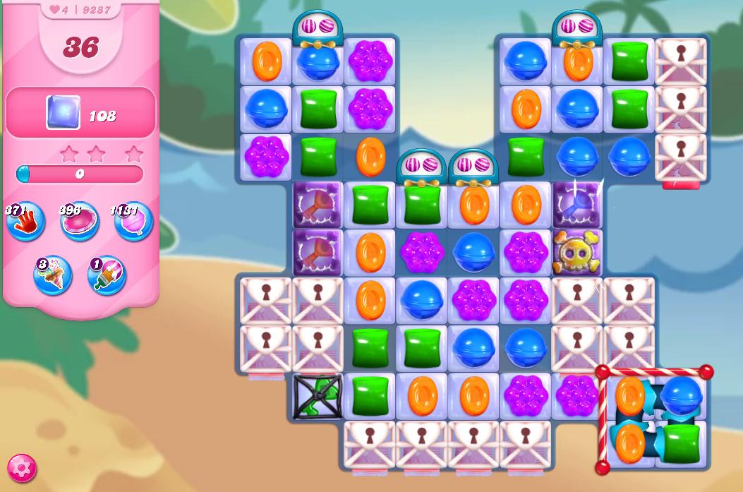 Candy Crush Saga level 9287