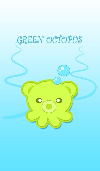 Green octopus