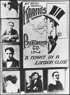 """Чарльз Чаплин в скетче """"Вечер в лондонском клубе"""""""