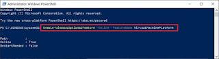 Enable Virtual Machine Platform on Windows 10 using PowerShell