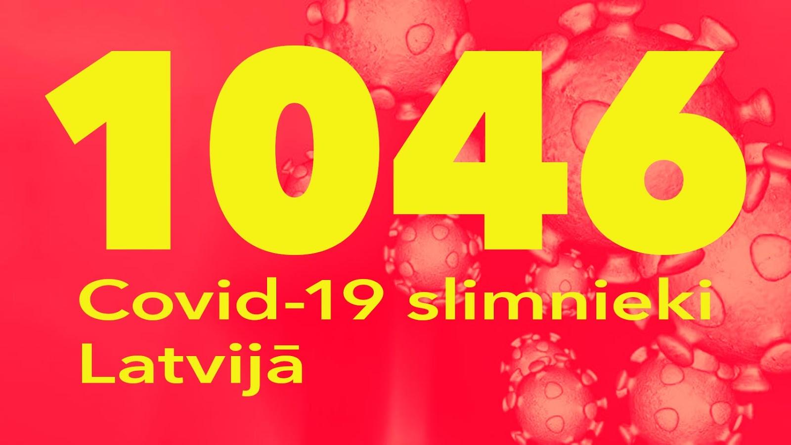 Koronavīrusa saslimušo skaits Latvijā 23.05.2020.