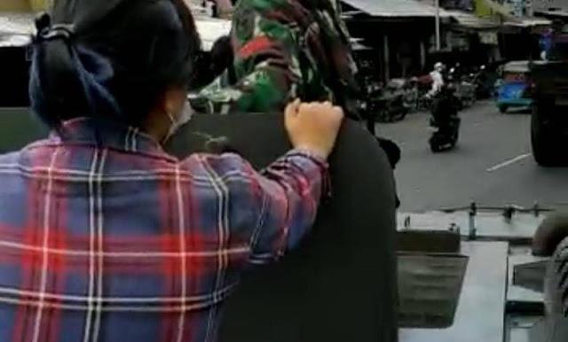 Kodam Jaya Sebut Wanita Baju Kotak-kotak Naik Ranpur TNI adalah Jurnalis Media Nasional