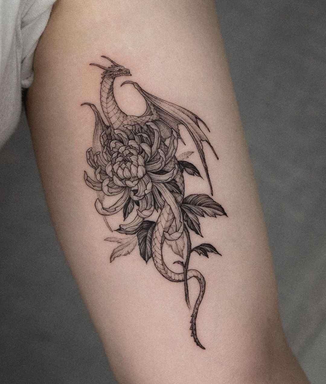 Tatuaje de dragón para el brazo