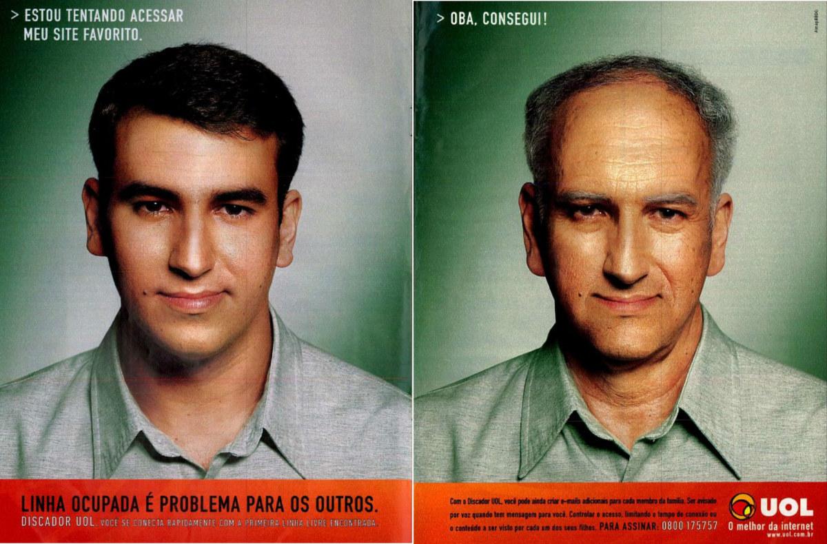 Anúncio veiculado no ano 2000 promovendo o discador de internet do UOL
