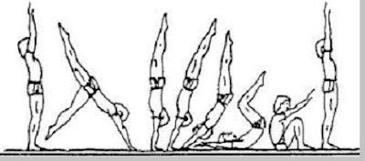 Hand stand roll senam lantai - pustakapengetahuan.com
