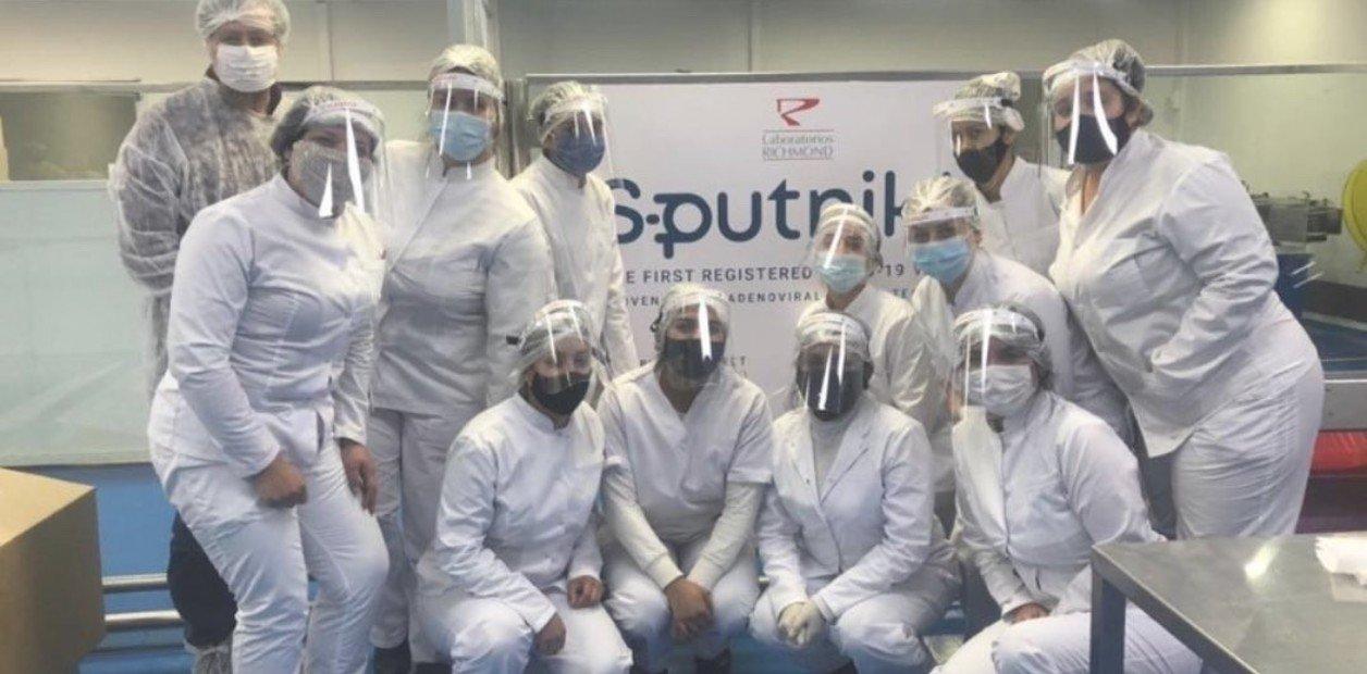 Richmond concluyó la producción de sus primeras 450 mil dosis de Sputnik V en la Argentina