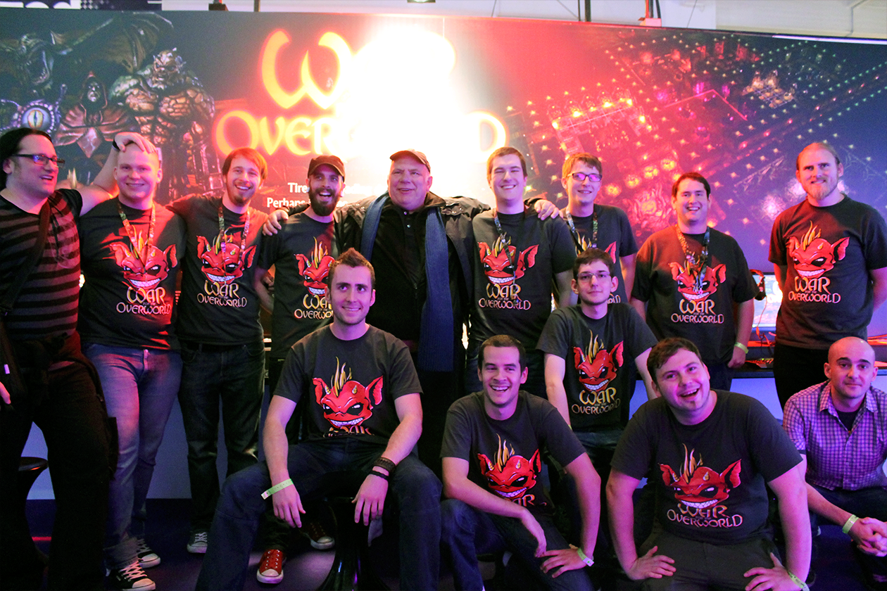 The WFTO Team & Volunteers with Richard Ridings at EGX 2013
