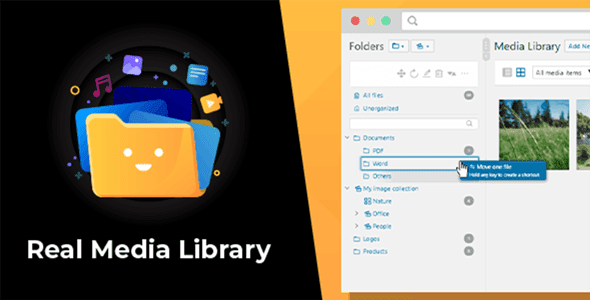 WordPress Real Media Library v4.6.1 - Folder & File Manager for WordPress Media Management Free Download