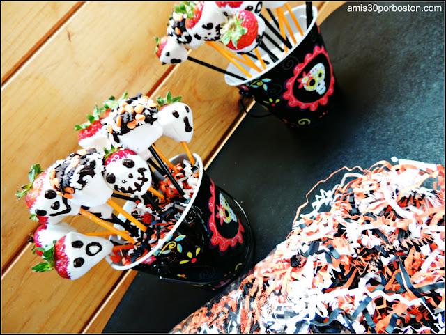 Comida Terrorífica para Fiestas de Halloween de Miedo: Fresas & Marshmallows Terroríficos