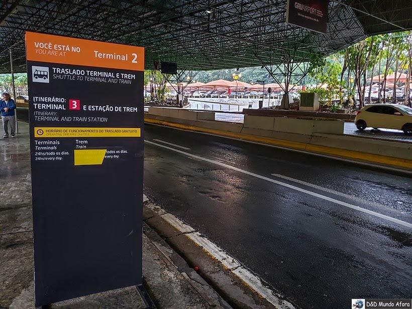 terminal 2 do Aeroporto de Guarulhos - Trem para Guarulhos, São Paulo: como funciona