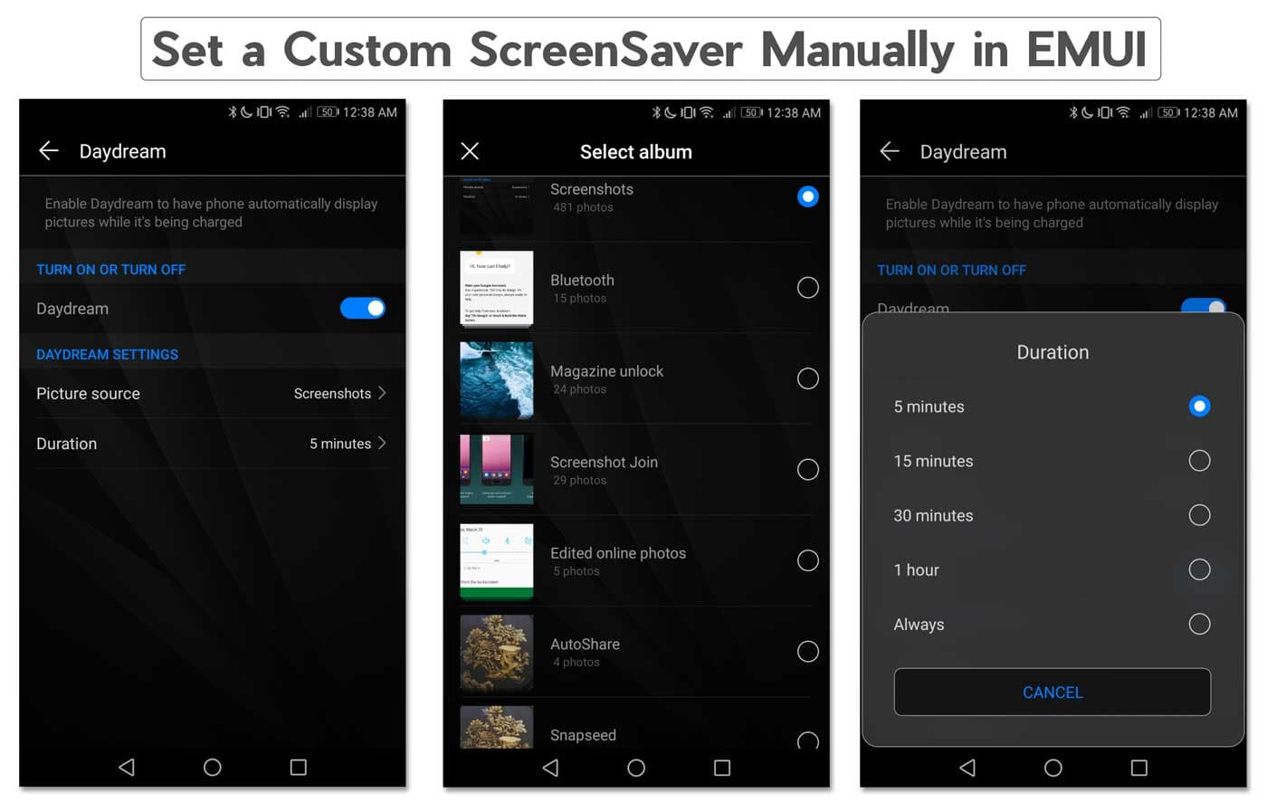 How to set Custom Screensaver on Huawei & Honor devices running EMUI