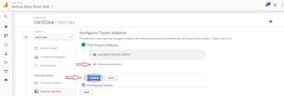 menghubungkan Google Analytics Adsense