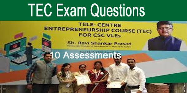 TEC Exam Question Answer Entrepreneurship -All Assessments