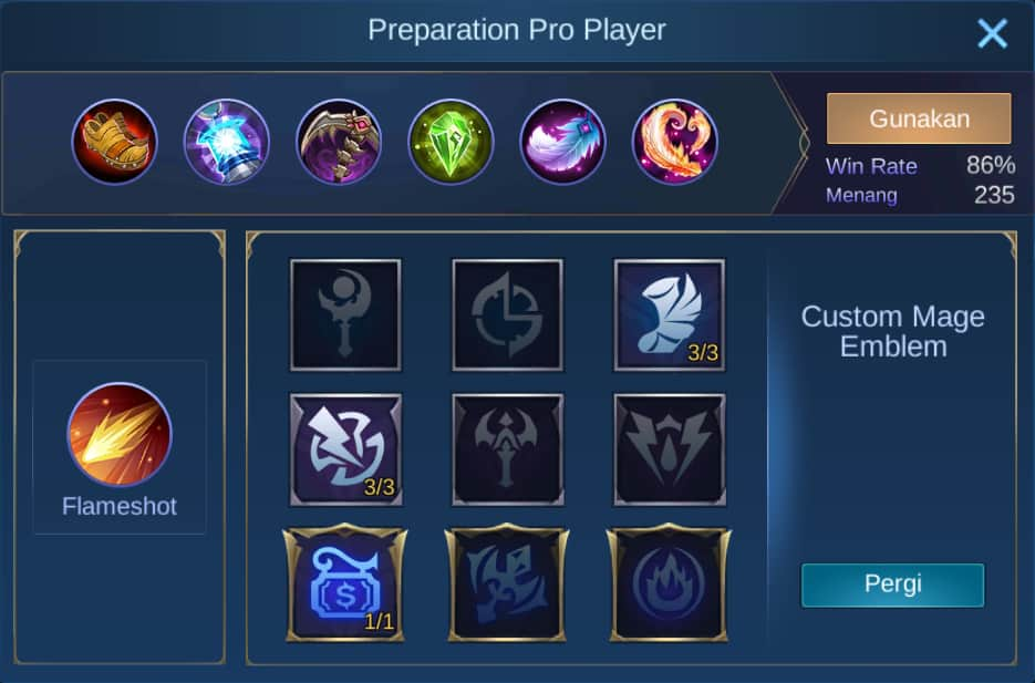 build item guinevere mobile legends (ML)