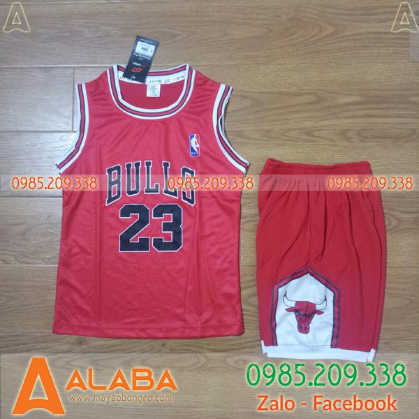 Áo bóng rổ trẻ em Bulls màu đỏ đẹp