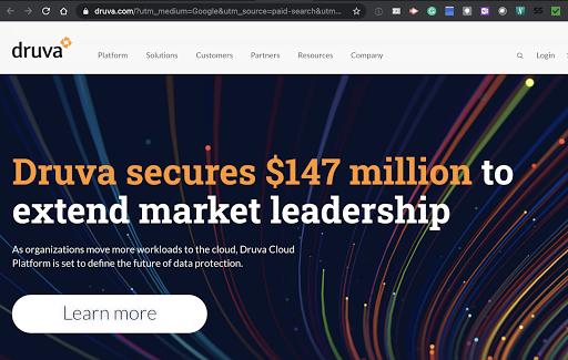 Druva raises $147 million for cloud data protection