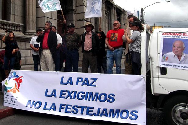 César Montes, Frente Amplio Refundación, exguerrillero, 20 años paz Guatemala